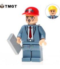 1pcs donald john trump with red color hat minifigure building blocks bricks toys