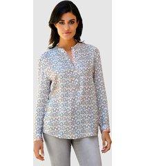 blouse alba moda wit::apricot::grijs