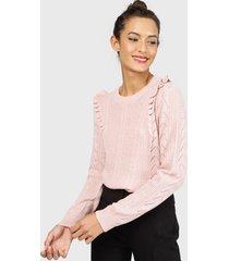 sweater io  vuelos rosa - calce regular