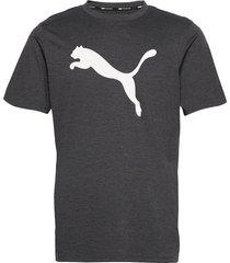 train fav heather cat ss tee t-shirts short-sleeved grå puma