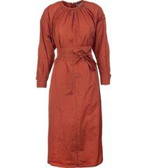 max mara brick red caio long dress