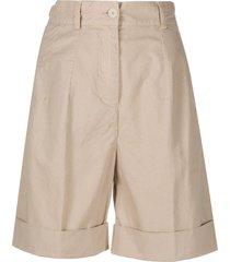 aspesi pleated bermuda shorts - neutrals