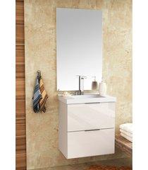 conjunto para banheiro pietra branco/branco brilho bosi - branco - dafiti