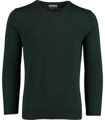 bos bright blue aron v-neck pullover 20305ar21bo/357 forest