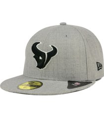 new era houston texans heather black white 59fifty fitted cap