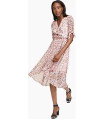 tommy hilfiger women's essential floral dress ivory / grenandine - 2