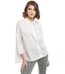 blusa only grace blanco - calce oversize