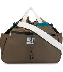 as2ov twill drawstring shoulder bag - brown