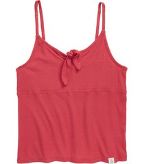 girl's treasure & bond tie front ribbed tank, size xl - red