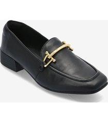 pure block loafers låga skor svart clarks