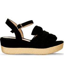 sandalias de plataforma negro bata alissa mujer