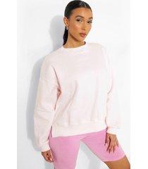geborduurde official sweater met split, light pink