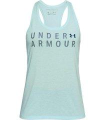 camiseta sin mangas mujer under armour train graphic twist tank-verde