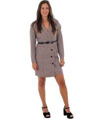 korte jurk vero moda 10220439 vmalicia l/s short dress tobacco brown small