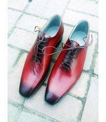 hand crafted oxford leather shoes, tuxedo dress formal office business men shoes