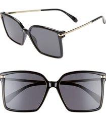 women's givenchy 57mm square sunglasses - black