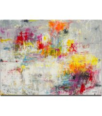 """ready2hangart, 'tie dye' colorful abstract canvas wall art, 20x30"""""""
