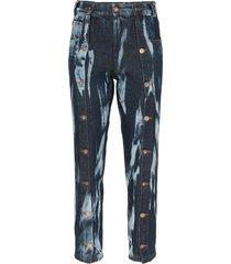 delada tie-dye straight-leg jeans - blue