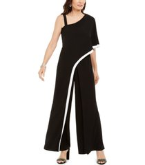 r & m richards petite asymmetrical one-shoulder jumpsuit