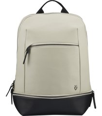 vessel signature 2.0 faux leather backpack - beige