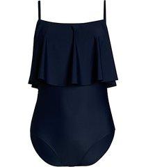 ruffle flounce one-piece swimsuit