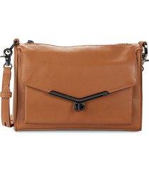 botkier new york women's valentina leather shoulder bag - cognac