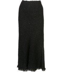 alexander wang tweed skirt - black