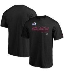 majestic colorado avalanche men's locker room prime t-shirt