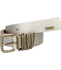 cinturon bilbao dorado cuero zappa