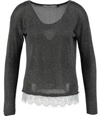 only grijze trui met kant