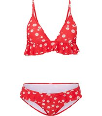 bikini a triangolo (set 2 pezzi) (rosso) - rainbow