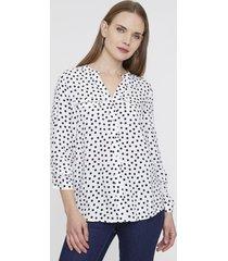 blusa cierres i blanco puntos  corona