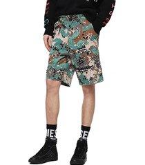 short p frank sho camou shorts multicolor diesel