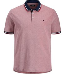 jack & jones poloshirt rood plus size