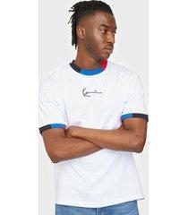 karl kani small signature block rib tee t-shirts & linnen white