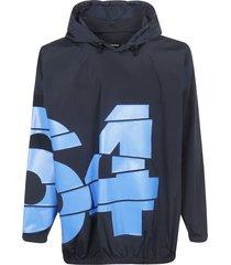 dsquared2 printed detail hoodie
