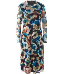 jurk lange mouwen en bloemenimpressies van mybc multicolour