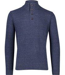 portofino trui knopen donkerblauw gemeleerd