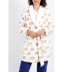 pyjama's / nachthemden admas wolkenbeige kamerjas