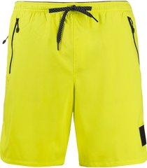 diesel drawstring swim shorts - yellow