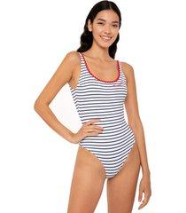 mc2 saint barth one piece swimsuit with capri embroidery