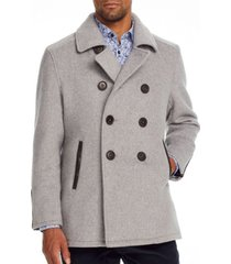 brooklyn brigade men's slim-fit grizzly bear peacoat