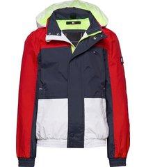 vintage colorblock jacket outerwear jackets & coats windbreaker blauw tommy hilfiger