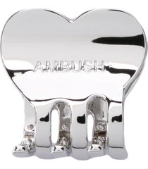 ambush heart hair clip - silver