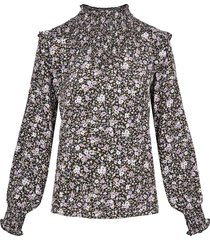 blouse print zwart