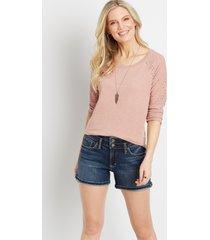 silver jeans co.® womens suki dark wash 4in shorts blue denim - maurices