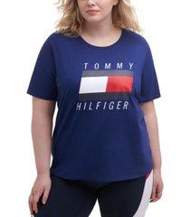 tommy hilfiger sport plus size logo t-shirt