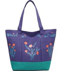 stampa su tela da donna con tracolla borsa