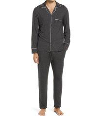 men's eberjey men's william pajamas, size small - grey