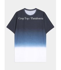 camiseta con degrade posicionado